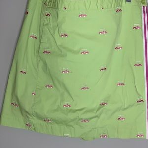 Vintage Lilly Pulitzer Golf Cart Skort Size 14